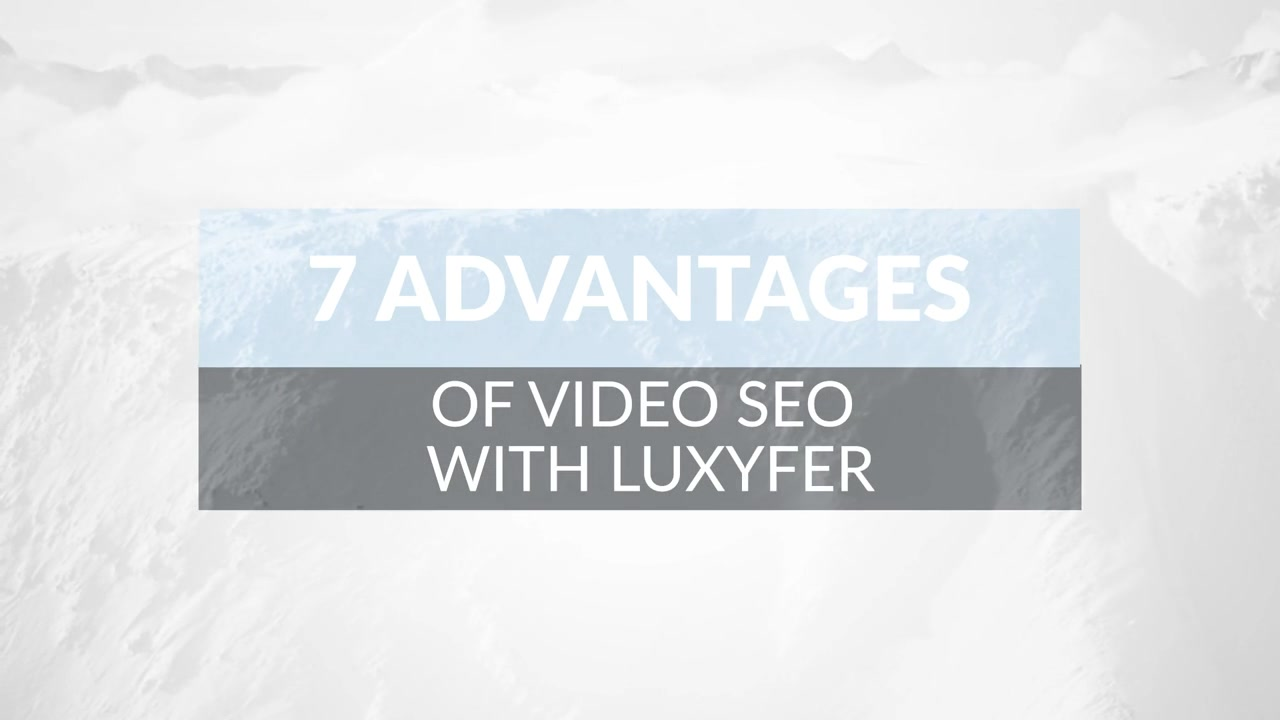 Video Seo with Luxyfer the video optimization service, boost video on top of search engine and supporting your digital marketing strategy, campaign analysis guaranteeing quicker and stable results, is the best marketing content to get engagement